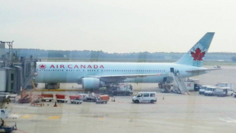 My plane to Canada!
