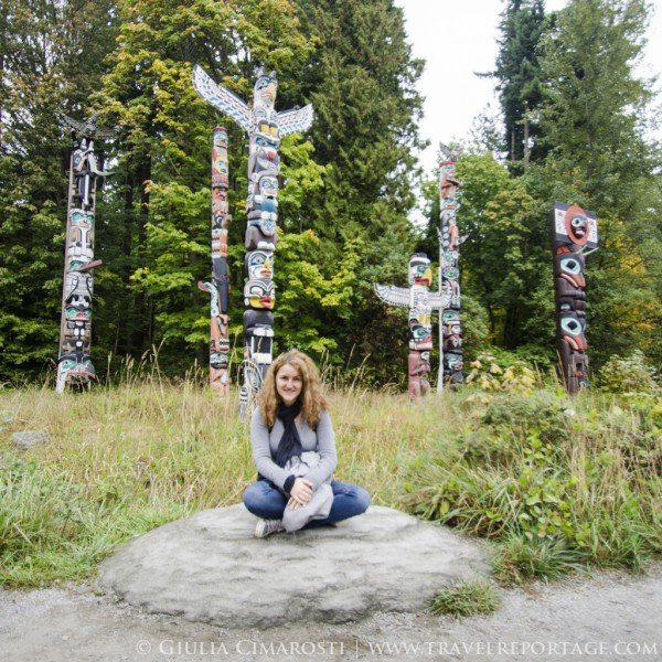 Me at the Totem Poles in Stanley Park, Vancouver