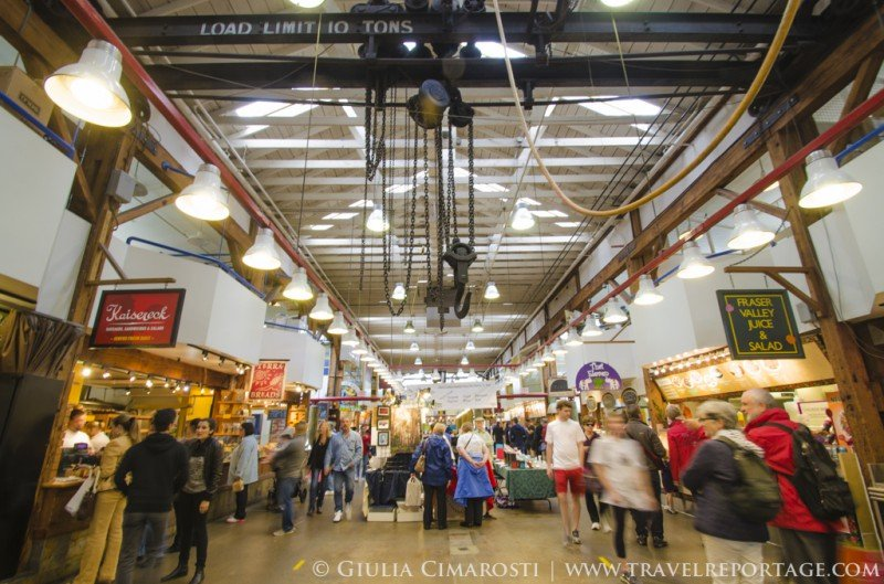 Granville Island in Vancouver - the food market
