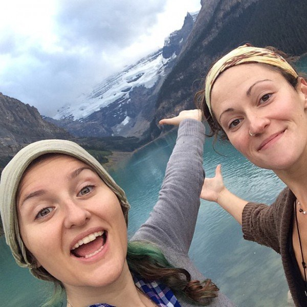 Lake Louise selfie