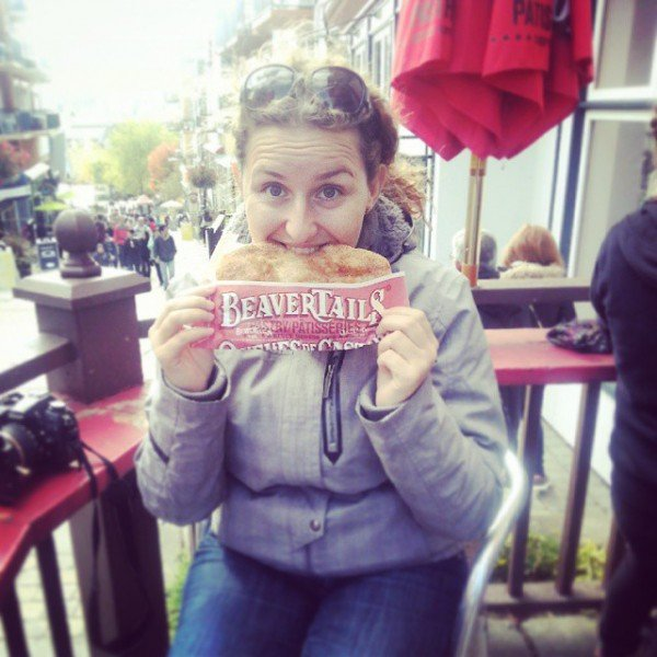 Me and my first (and only, so far) beaver tail