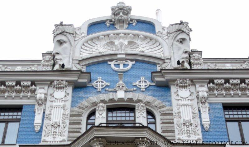 Building with faces! In Riga, Latvia #BalticTR