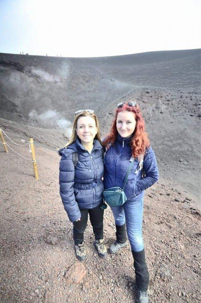 Me on Mount Etna, at 3.000 meters of altitude!