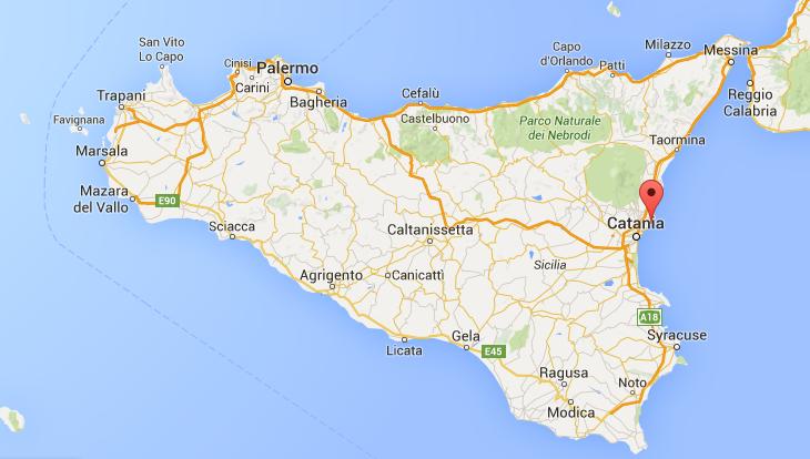 Aci Trezza Location Map