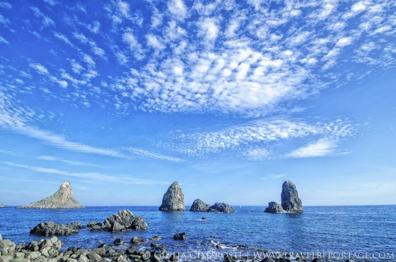 The beautiful Stacks (Faraglioni) of Aci Trezza on a beautiful day!