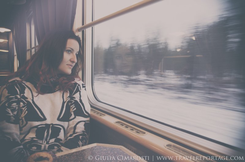 About traveling on a night train to the Swedish Lapland…