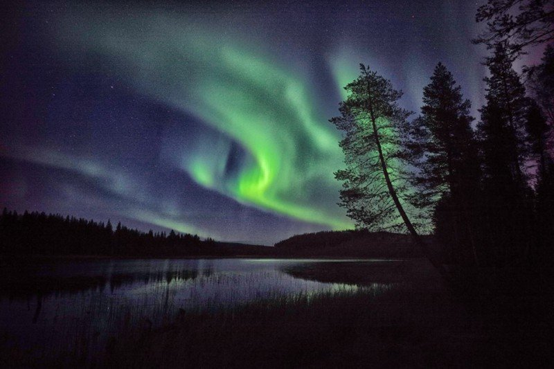 The northern lights in Swedish Lapland. Photo © Edoardo Miola
