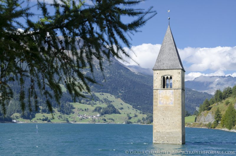 Reschensee and the submerged steeple