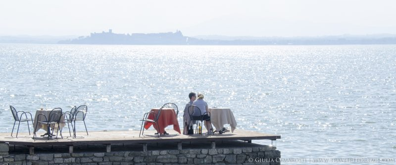 A romantic drink on the lake, at Isola Maggiore