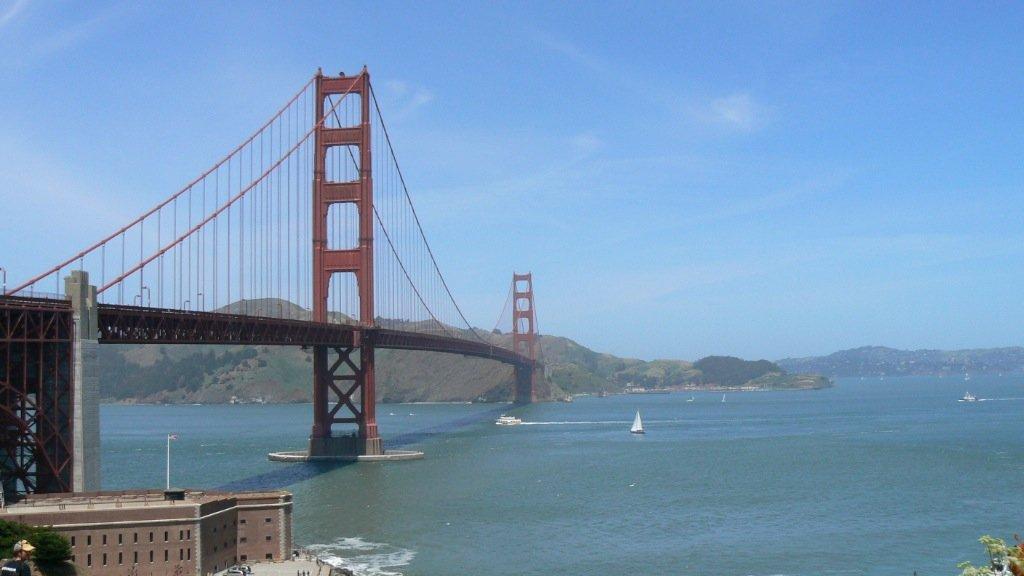 Travel Photo Struggling On The Golden Gate Bridge