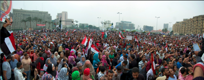 Demonstrations in Tahrir Square, Cairo, Egypt