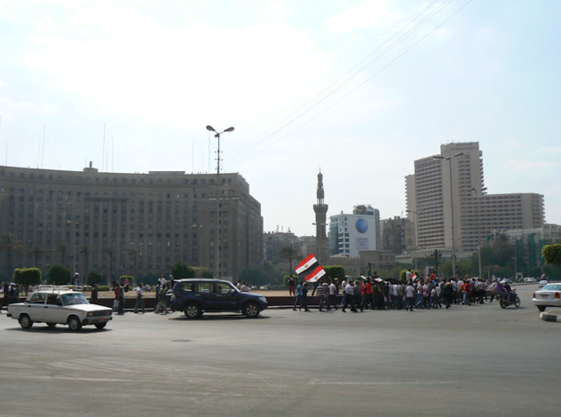 Ridiculously little protest in Tahrir Square