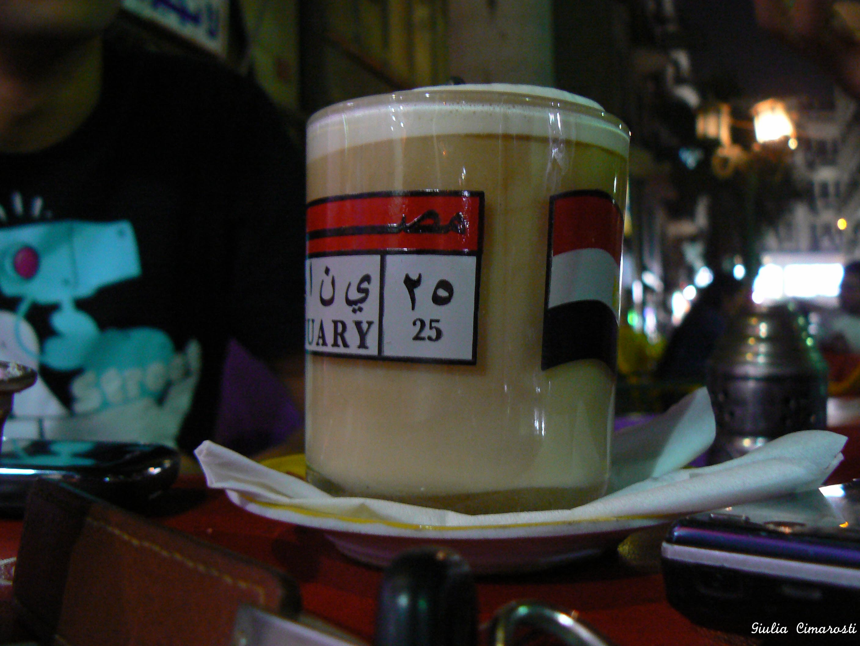January 25 glass - Borsa cafe, Cairo, Egypt