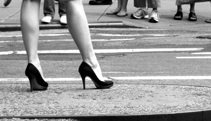 Union Square, high heels