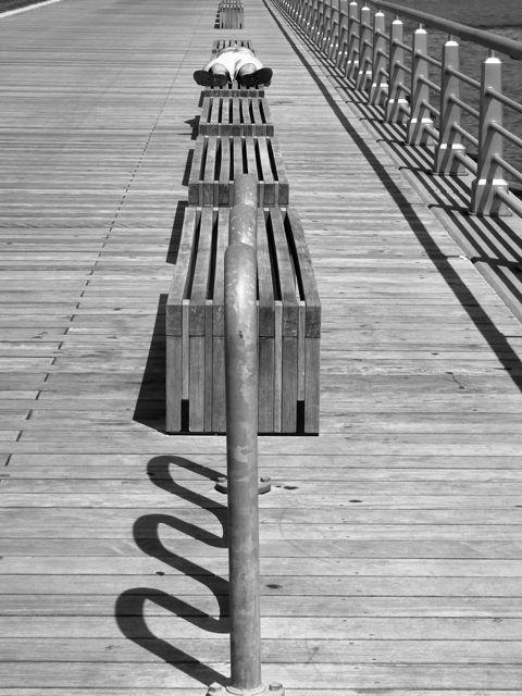 Chelsea piers - man resting