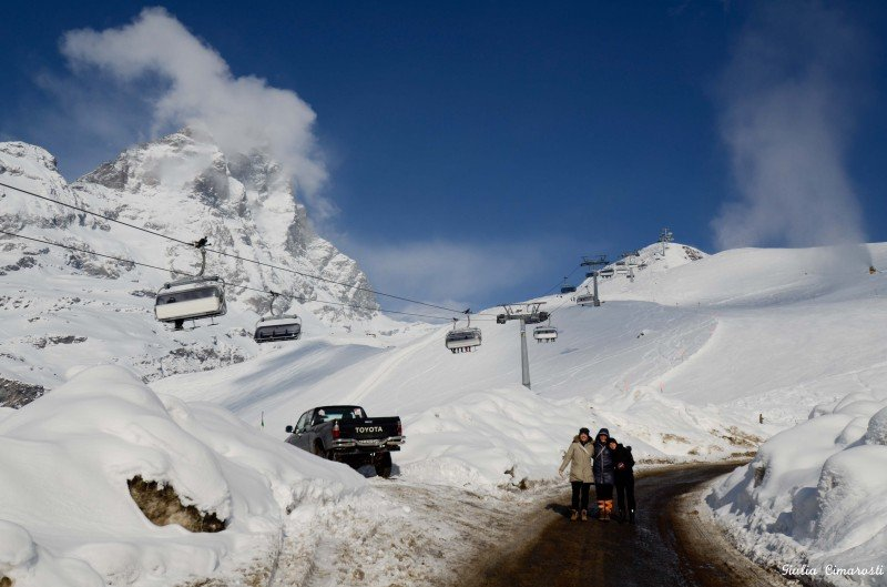 On the way to work, Cervinia