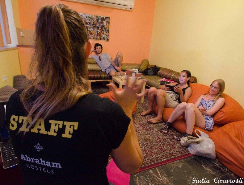 Hebrew class at Abraham Hostel, Jerusalem