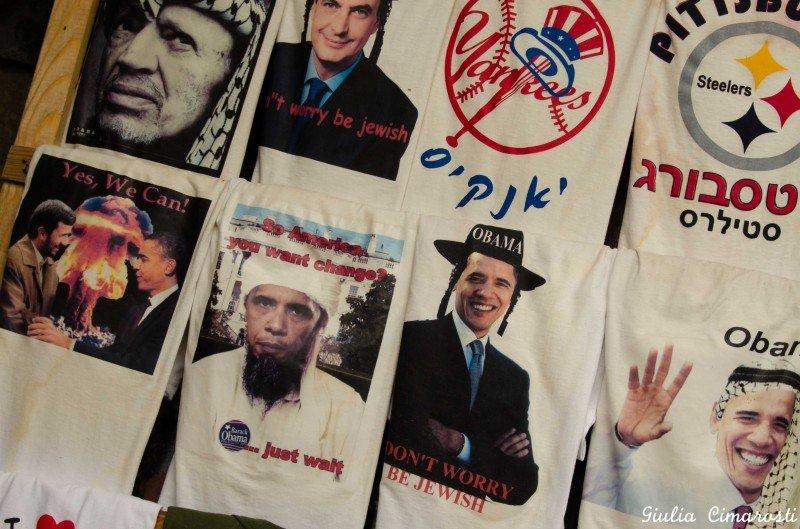 Funny t-shirts in Old Jerusalem