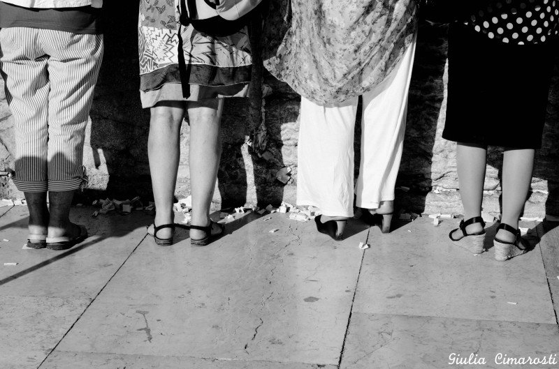 The Western Wall, women praying