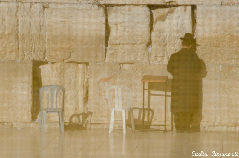The Western Wall - through the fence