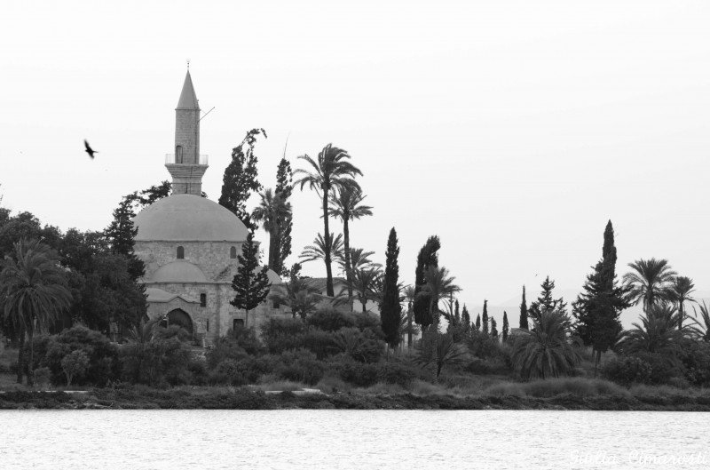 Hala Sultan Tekke Mosque, on Larnaca Salt Lake