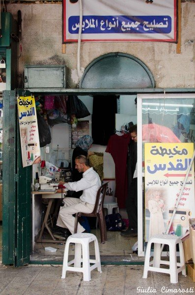 A tailor in the Muslim Quarter