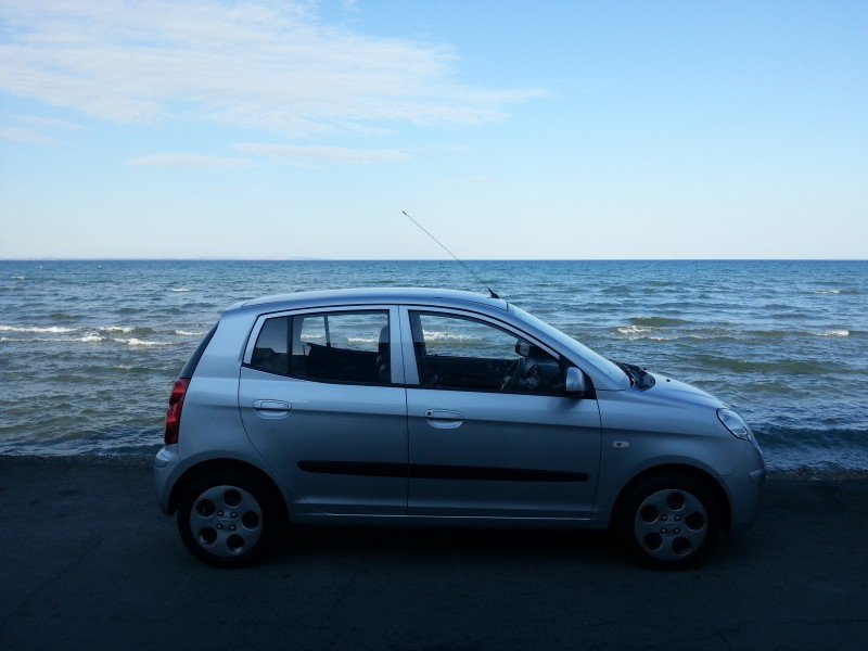 My car on the sea promenade in Larnaka!