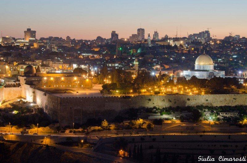 Jerusalem at dusk