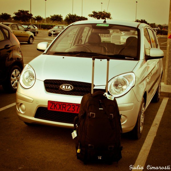 Dropping off my car at the Larnaka Airport