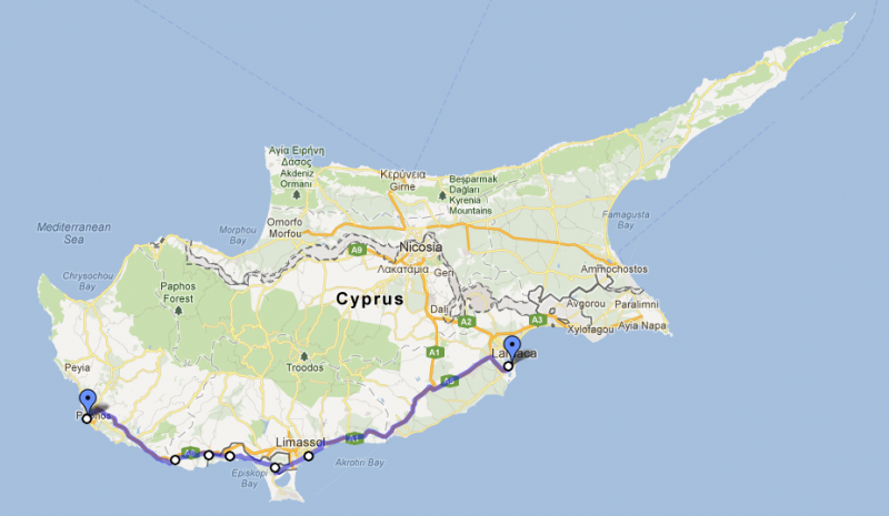 Cyprus road trip, day eight: Pafos to Larnaka