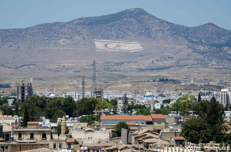 Nicosia, Cyprus: The mountains in the occupied area