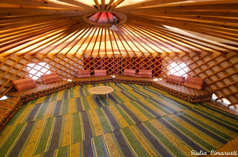Inside the Yurt, Gengis Khan Camp