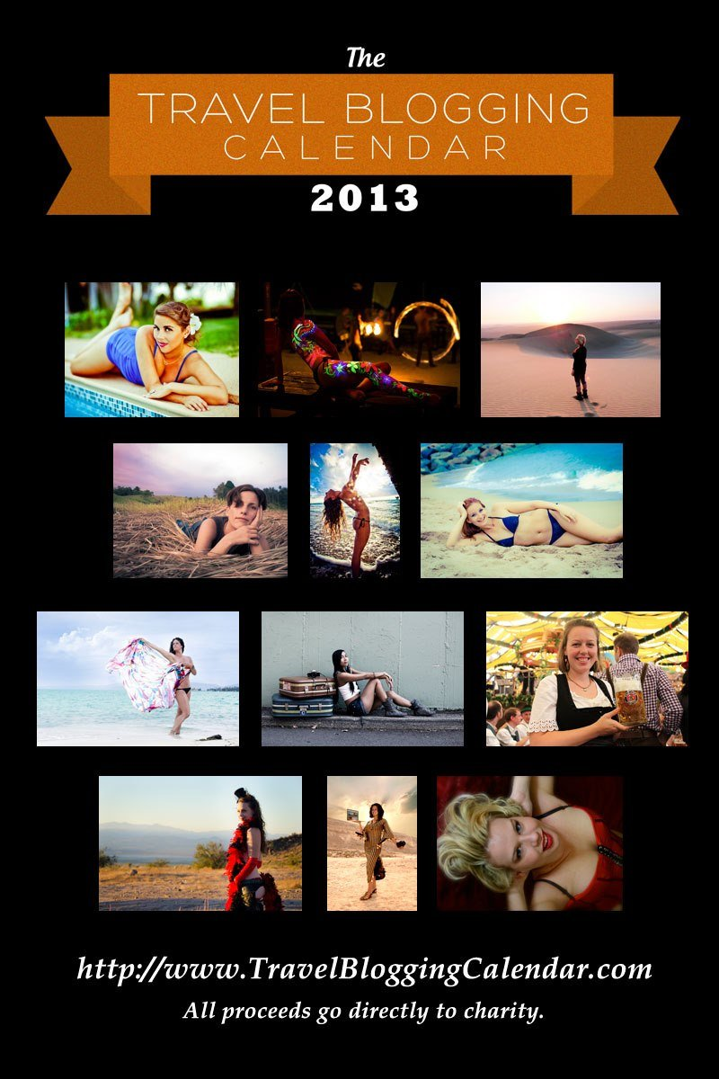 Preview of the Women of Travel Blogging Calendar 2013