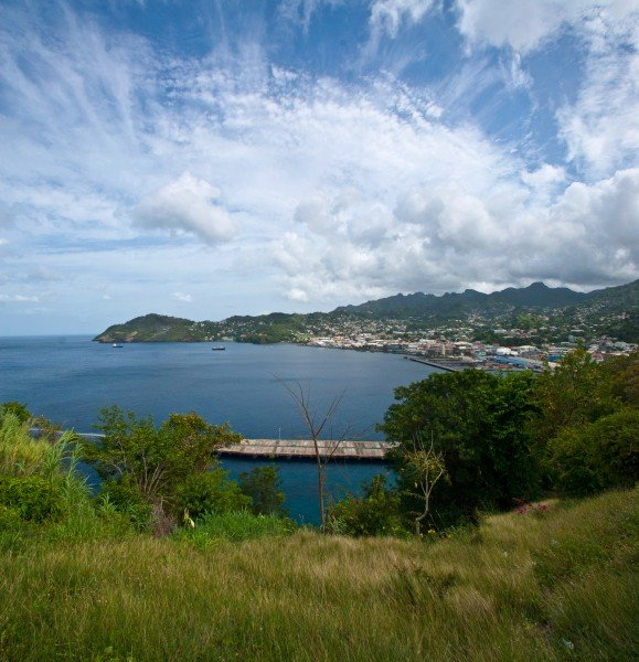 A panorama of Kingstown, the capital of SVG