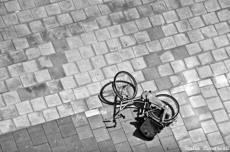 Amsterdam... a bike from above