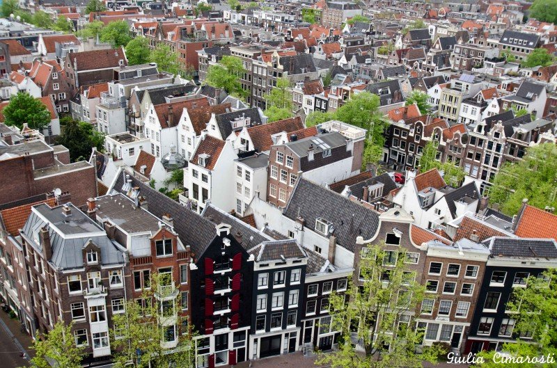 Amsterdam from above, as seen from Westerkerk Tower
