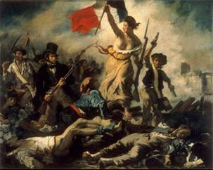 "Delacroix's ""Liberty leading the people"" (French Revolution)"