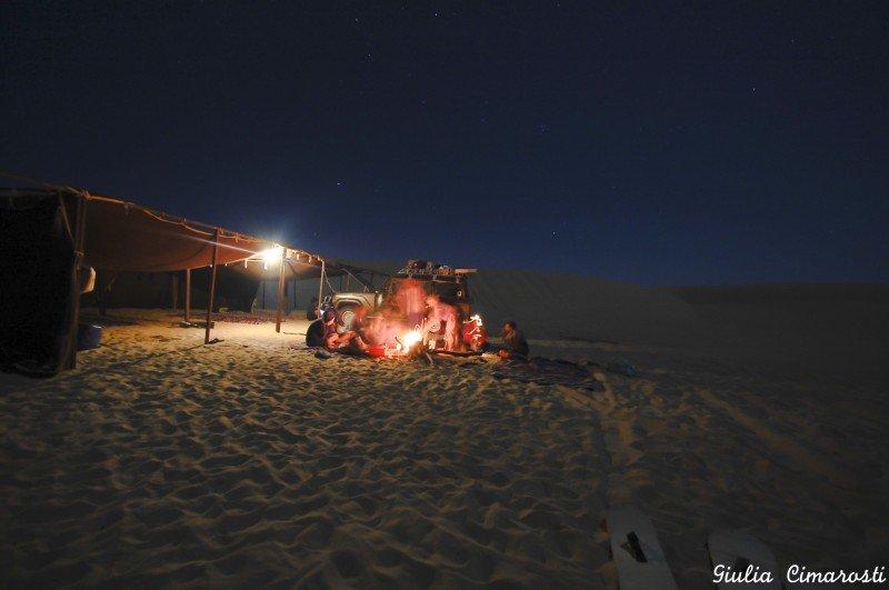 Wadi Rayan by night: camping between dunes