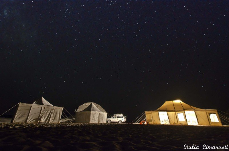 White Desert, Camp by night