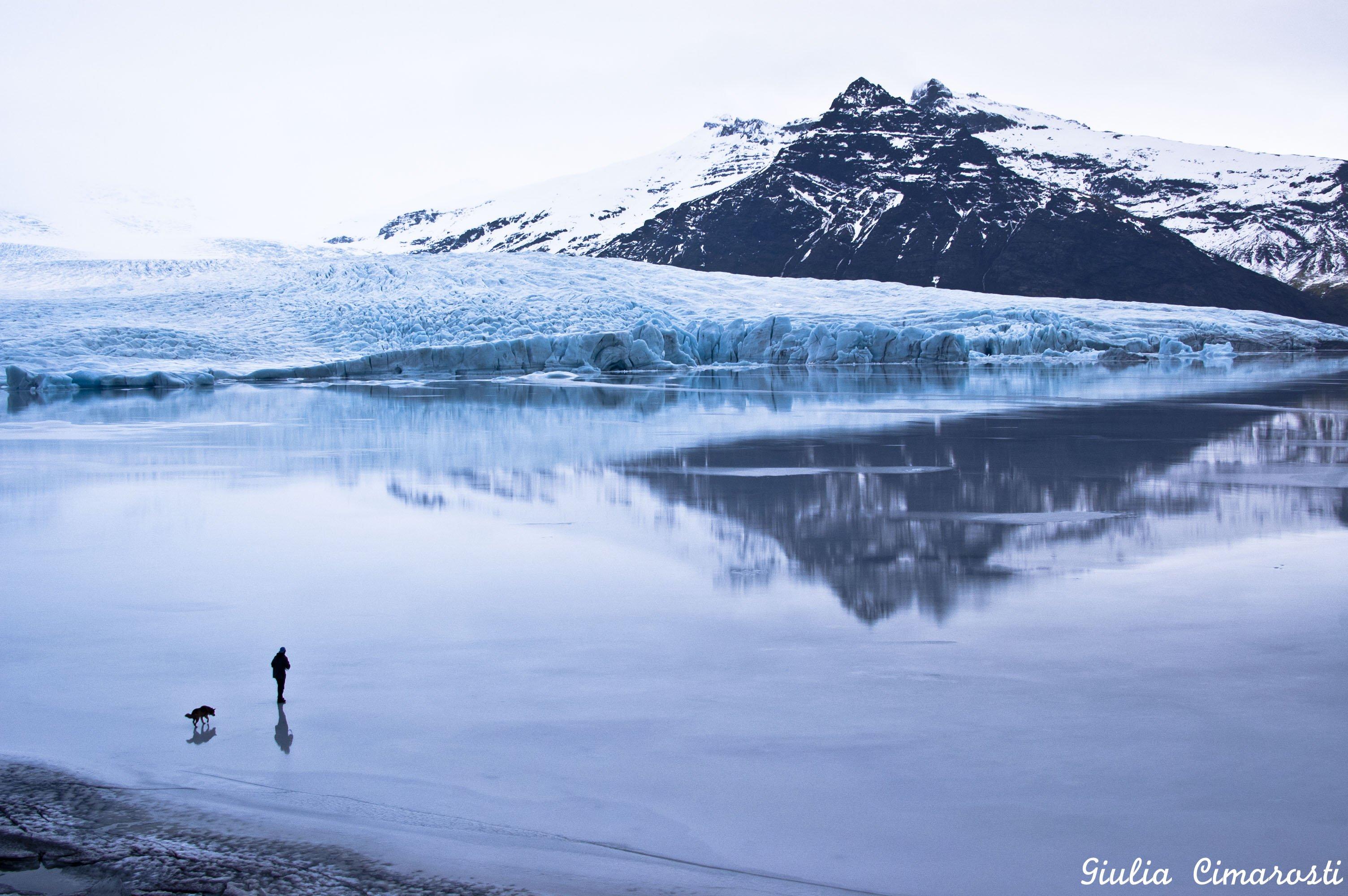 Fjallsárlón... walking on ice