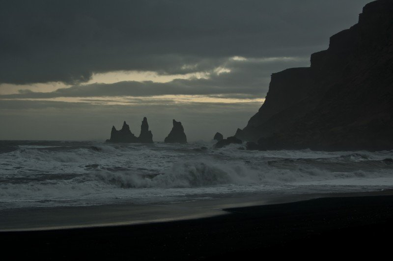 Reynisdrangar rock formations in Vik