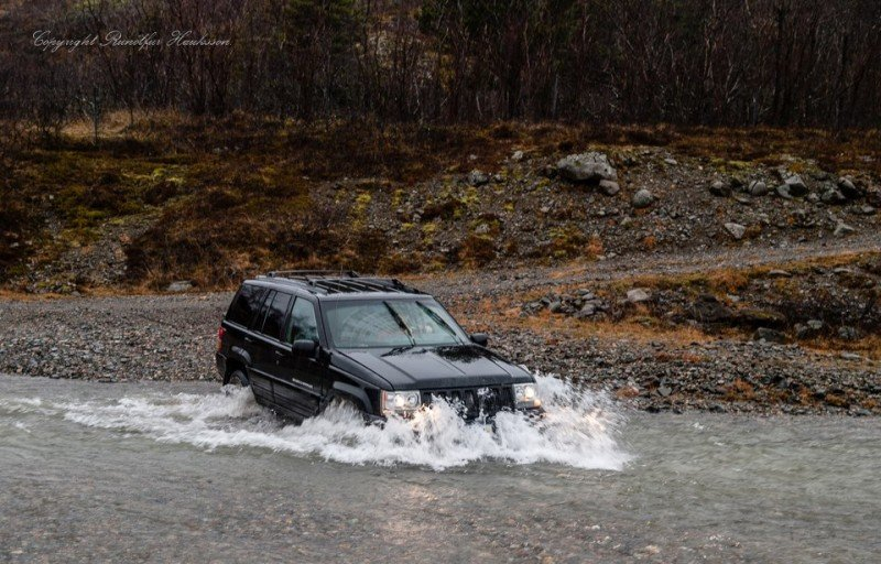 Me fording a river in Iceland