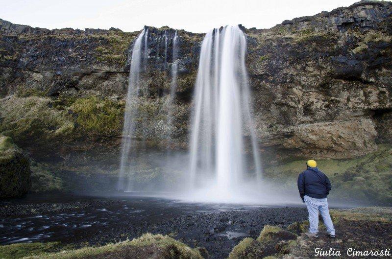 The Seljalandsfoss waterfall