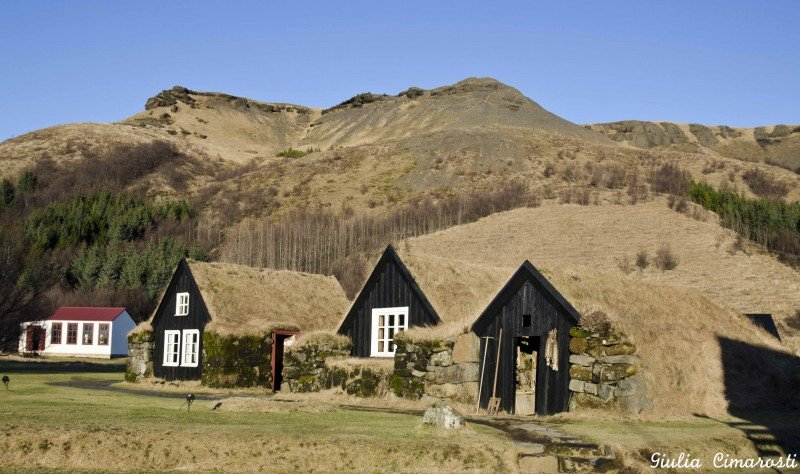 Ancient traditional Icelandic houses