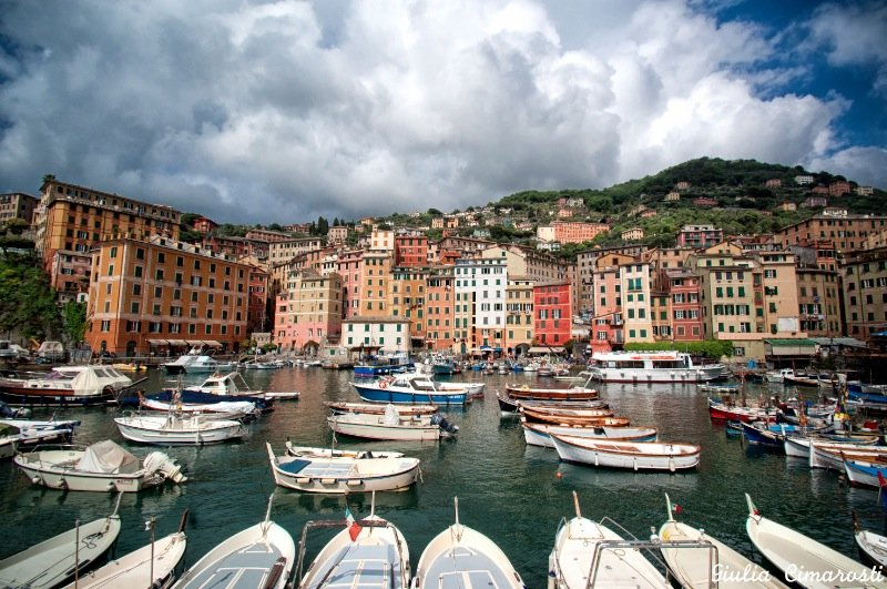 The picturesque town of Camogli