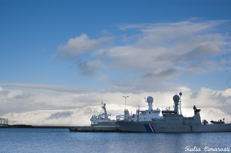 The Icelandic Coast Guard, the closest thing to an army you will find in Iceland