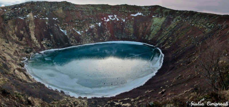 The Kerið Volcano. I remember I sent a Tweet from here!