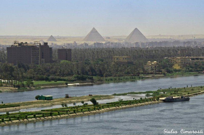 The Giza Pyramids: probably easier to watch from a distance, hassle free. :)