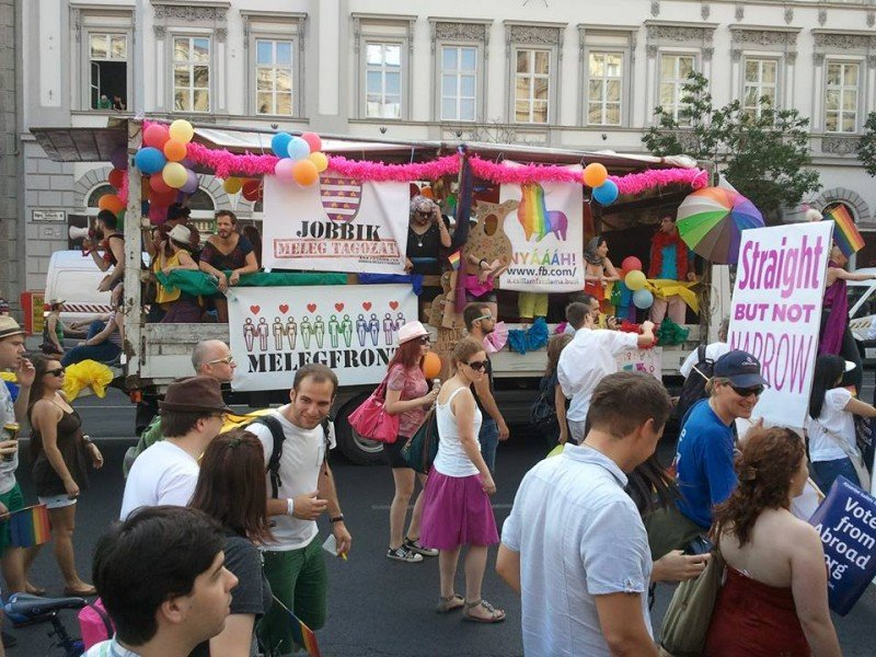 The 2013 Gay Pride parade in Budapest, Hungary - Thanks to Fabio Venturini, a reader, that sent me this pic!