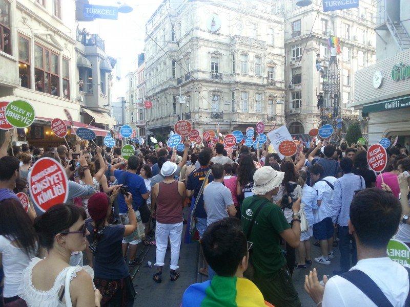 Gay Pride parade in Istanbul, 2012